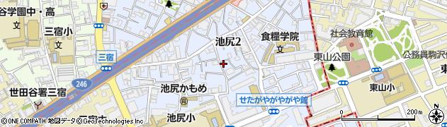 東京都世田谷区池尻周辺の地図