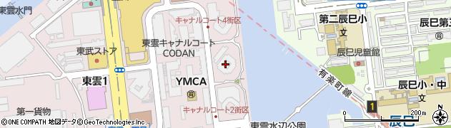 キャナルファーストタワー周辺の地図
