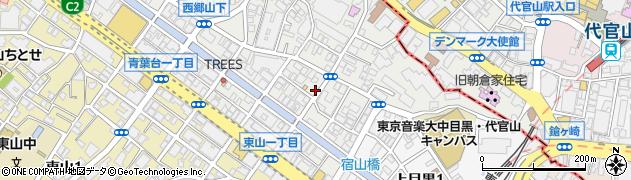東京都目黒区青葉台周辺の地図