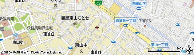 東京都目黒区東山周辺の地図