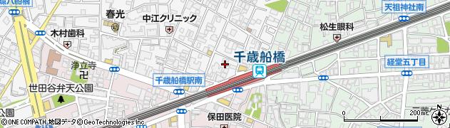東京都世田谷区船橋1丁目周辺の地図