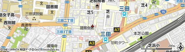 東京都港区芝5丁目22-8周辺の地図