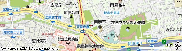 天現寺周辺の地図