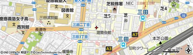 東京都港区芝周辺の地図