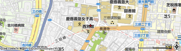 東京都港区三田周辺の地図