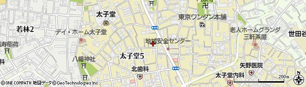 東京都世田谷区太子堂周辺の地図