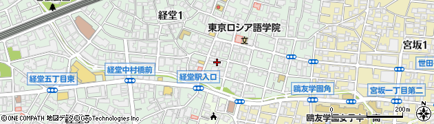 東京都世田谷区経堂周辺の地図