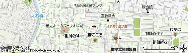 東京都世田谷区祖師谷周辺の地図