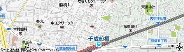 東京都世田谷区船橋周辺の地図