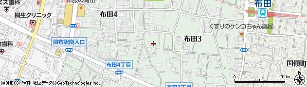 東京都調布市布田周辺の地図