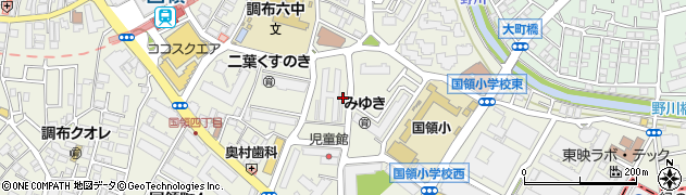 都営調布くすのきアパート周辺の地図