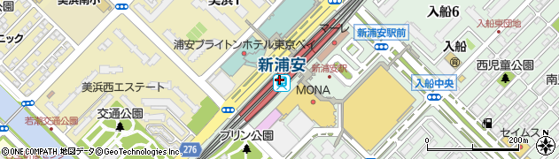 千葉県浦安市周辺の地図