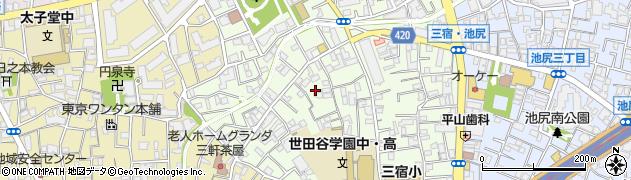 東京都世田谷区三宿周辺の地図