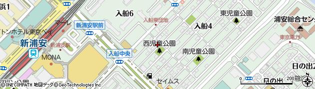 千葉県浦安市入船周辺の地図