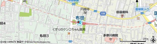 東京都調布市周辺の地図