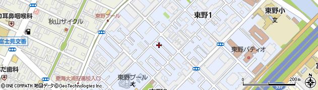 千葉県浦安市東野周辺の地図