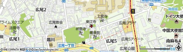 東江寺周辺の地図