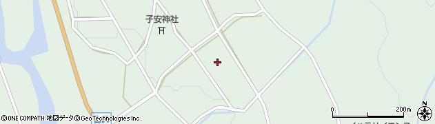 岐阜県中津川市付知町(白沢)周辺の地図