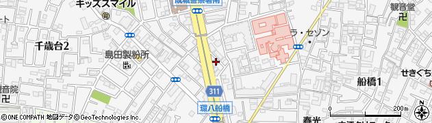 東京都世田谷区船橋2丁目周辺の地図