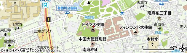 東京都港区南麻布周辺の地図