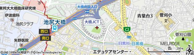 東京都目黒区大橋1丁目9周辺の地図