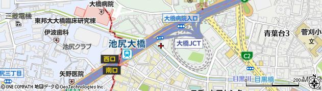 東京都目黒区大橋1丁目10周辺の地図