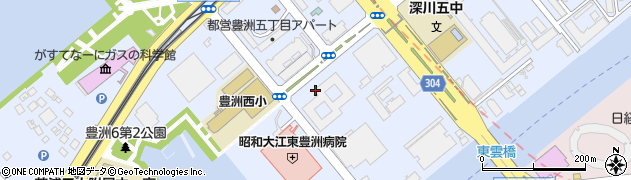 東京電力社宅周辺の地図