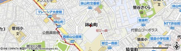 東京都渋谷区鉢山町周辺の地図