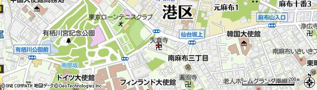 天真寺周辺の地図