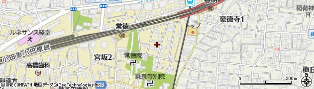 東京都世田谷区宮坂周辺の地図