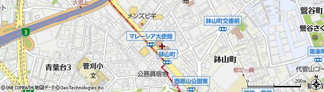 東京都渋谷区南平台町20-16周辺の地図