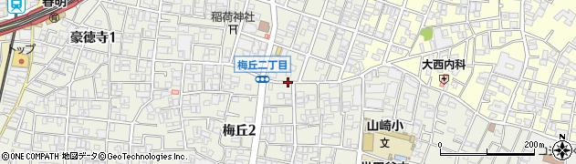 東京都世田谷区梅丘周辺の地図