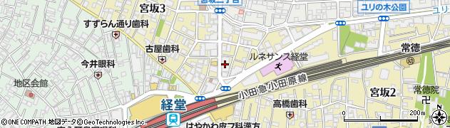 東京都世田谷区宮坂3丁目9-4周辺の地図