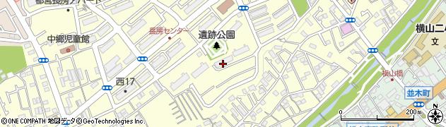 都営長房南アパート周辺の地図