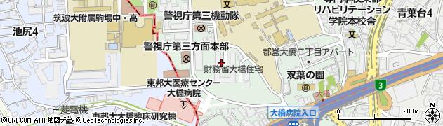 東京都目黒区大橋2丁目17周辺の地図