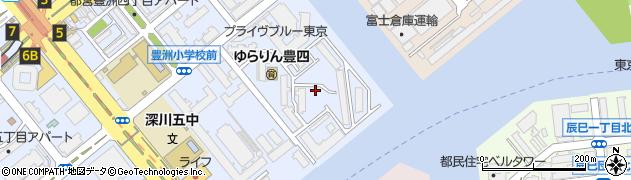 豊洲四丁目団地周辺の地図