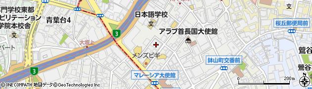 東京都渋谷区南平台町17-1周辺の地図