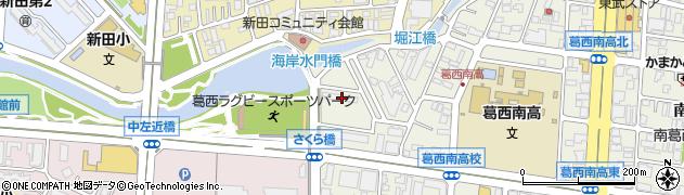 南葛西住宅周辺の地図