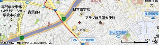 東京都渋谷区南平台町16-4周辺の地図