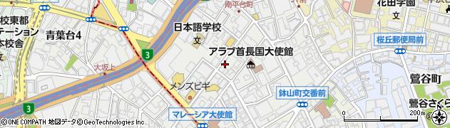 東京都渋谷区南平台町11-18周辺の地図