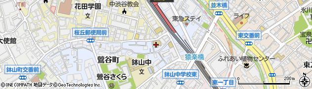 東京都渋谷区鶯谷町3-10周辺の地図