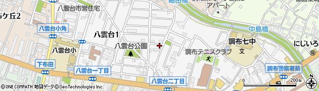 東京都調布市八雲台周辺の地図