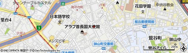 東京都渋谷区南平台町周辺の地図