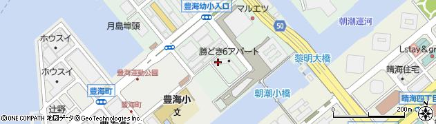 都営勝どき六丁目アパート周辺の地図