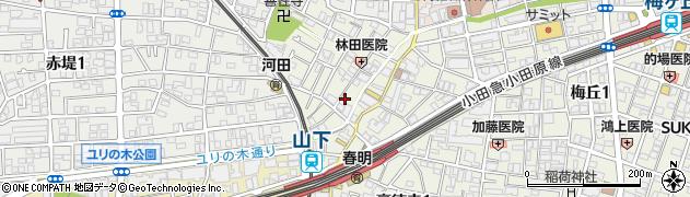 東京都世田谷区豪徳寺周辺の地図