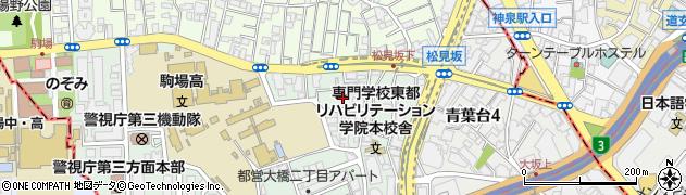 東京都目黒区大橋2丁目8周辺の地図