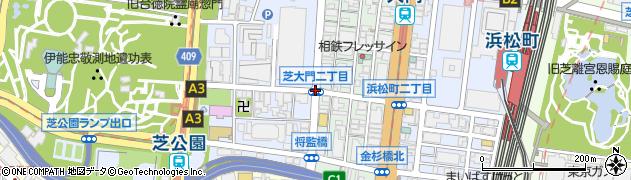 芝大門2周辺の地図
