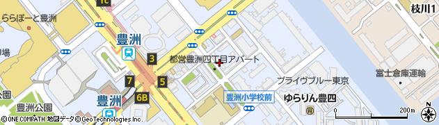 都営豊洲四丁目アパート周辺の地図