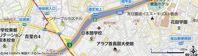東京都渋谷区南平台町15-5周辺の地図
