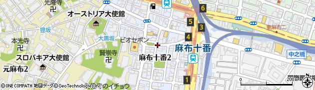 東京都港区麻布十番周辺の地図